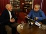 Natáčení rozhovoru Stanislava Motla s válečným veteránem Antonínem Malachem