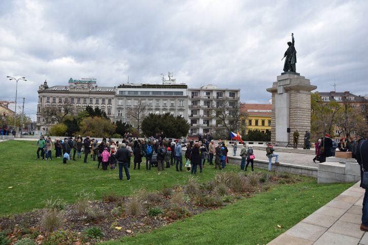 Moravské náměstí v Brně 11. 11. 2017